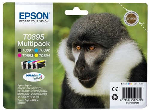 EPSON B/C/M/Y Inkjet Cartridge Bundle (T0895)