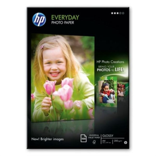 HP A4 Everyday Glossy Photo Paper, 200g (100)