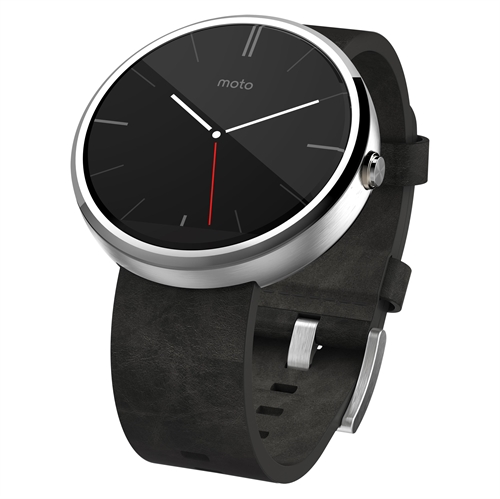 Motorola Moto 360 Light Metal / Grey Leather